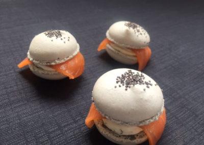 Macarons au saumon