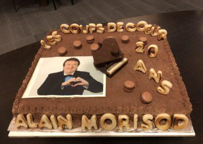 Gâteau d'anniversaire Coups de cœur d'Alain Morisod
