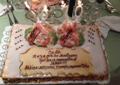 Gâteau de double anniversaire